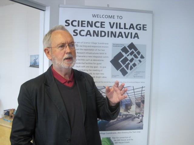 콜린 칼라인 SVS 특별고문은 룬드에 '유럽파쇄중성자원(ESS)' 가속기를 유치하는 데 큰 역할을 했다. - 룬드=이현경 기자 uneasy75@donga.com 제공